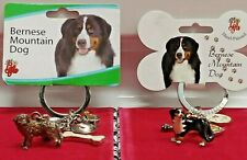 Little Gifts Bernese Mountain Dog Key Chain With Charms Pewter or Enamel Dog