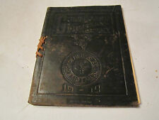 1919 GULF COAST MILITARY ACADEMY - FIRST CLASS COMMENCEMENT IN LEATHER - TUB M