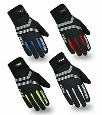 FDX Cycling Gloves Windproof Gel Padded Touchscreen Compatible Ful Finger Gloves