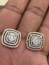 Pave 1,52 Cts Runde Brilliant Cut Natürlichen Diamanten Ohrstecker In 14K Gold