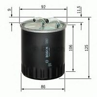 ENGINE FUEL FILTER OE QUALITY REPLACEMENT BOSCH 1457434437