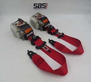 MERCEDES SLK R171 RED AMG COLOUR SEAT BELT RE-WEBBING SERVICE