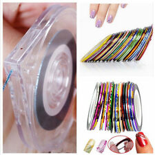 Nail Art Striping Tape Line Case Box Holder + 5 Pcs Nail Sticker Adhesive Rolls