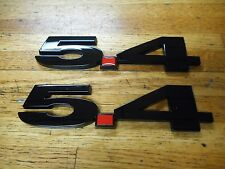 FORD MUSTANG SHELBY F150 EXPEDITION NAVIGATOR 5.4 FENDER EMBLEMS  BLACK PAIR
