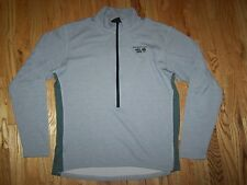 Mountain Hardwear 1/2 Zip Pullover Poly Gray Shirt Men's Size Large L  EUC