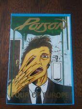 Poison Concert Tour Backstage Pass Tour Of Europe Bret Michaels Unlaminated