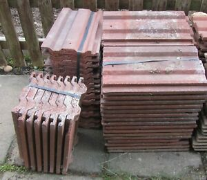 New x 24 and Used x 37 Sandtoft roof tiles (37cm x 23cm)