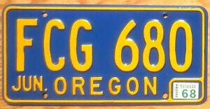 1968 Oregon License Plate Number Tag - $2.99 Start