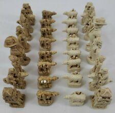 Brookwood Texas Chess Set - Stonecast Pieces - Complete Set - No Board - RARE