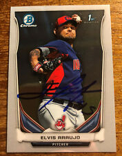 Elvis Araujo Autographed Signed 2014Topps 1st Bowman  Cleveland Indians  MINT