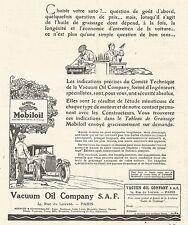 W7465 Gargoyle MOBILOIL - Illustrazione - Pubblicità del 1926 - Old advertising