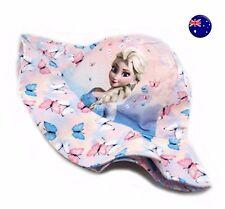 New H & M Kids Girls Children Pink Frozen Elsa 100% Cotton Sun Cap Hat 1-3 Years