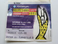 THE ROLLING STONES TICKET 16th Juillet 1995, Wembley Stadium, London, U.K