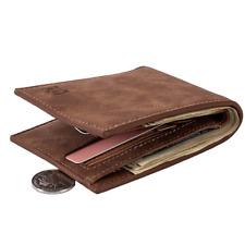 2019 Fashion Men Wallets Casual Small Wallet Money Purse Coin Bag Zipper BROWN