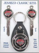 Pontiac GTO Chrome Diamond Classic White Gold Deluxe Keys Set 1964 1965 1966