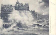 Sussex Storm at Eastbourne Vintage Postcard Rough Sea Series 810