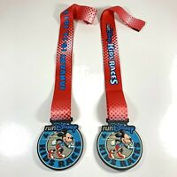 (2) 2013 Run Disney Kids Races Mickey Mouse Challenge Medal Set