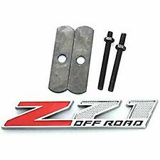 New Metal Z71 Off Road Red Chrome Front Grille Emblem Badge For Chevy GMC Trucks