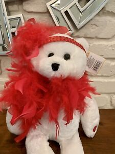 "2005 Chantilly Lane Singing Bear ROXIE Red Boa MISP ""I Wanna Be Loved By You"""