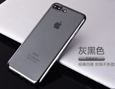 Chrome Plated Silicone Protective Clear Gel Case Cover For Apple iPhone 7