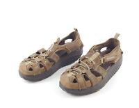 Skechers Shape Ups Womens Brown Leather Upper Size 7.5 Sport Sandals