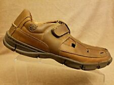 Timberland 80557 Men Fisherman Sandals Leather Brown Close Toe Shoes Size 12 M
