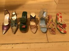 Just the Right Shoe Lot of 7 Designs Miniature Shoes by Raine