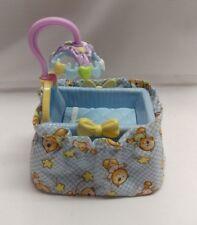 fisher price fp loving family dollhouse nursery baby blue crib bassinet