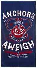 Anchors Aweigh beach towel Sourpuss pin up girl anchor nautical sailor