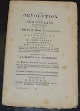 1840 Force Tract REVOLUTION IN NEW ENGLAND JUSTIFIED PEOPLE VINDICATED