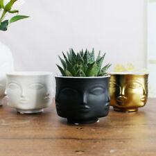 Creative Design Planter 3d Face Multi-faceted White Nordic Ceramic Small Pot New