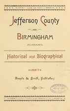 1887 JEFFERSON County, BIRMINGHAM, Alabama AL, History and Genealogy, DVD CD V92