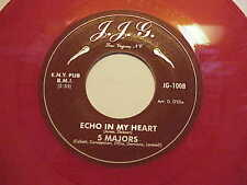 "GREAT DOO WOP 45 NYC THE ""FIVE MAJORS"" (RED WAX) J.J.G.# 100 L@@K LISTEN"