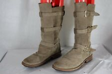 FIORENTINI+ BAKER WOMEN RUGGED LEATHER RIDING BOOTS EU 38 US 8 .MADE IN ITALY