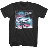 Back to The Future Outatime Lightning Men's T Shirt DMC DeLorean 80s Sci-Fi Top