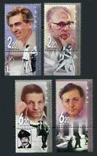 Israel: 2005 Theater Personalities (1624-1627) With Tabs MNH