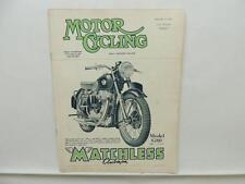 September 1952 MOTORCYCLING Magazine Matchless Clubman Model G80 L9834