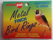 FINCH BIRD LEG RINGS METAL / ALLOY PURPLE NEW OLD STOCK FREE SHIPPING + TRACKING