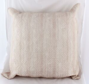 Hotel Collection Woodrose Quilted Cotton Euro Pillow Sham Pink