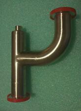 "MKS Vacuum  Drain Trap KF40 - Tee + 90 deg Elbow + 1/4"" FNPT 304 Stainless Steel"