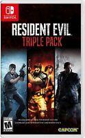 Resident Evil Triple Pack for Nintendo Switch - Brand New Sealed