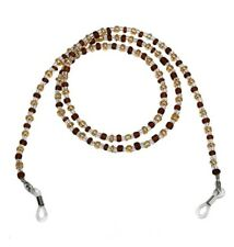 Brown beaded cord chain lace lanyard strap string eyeglasses magnify sunglasses