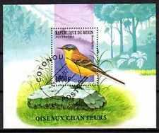 Oiseaux Bénin (10) bloc oblitéré