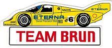 Team Brun Porsche ETERNA Nr. 6  Sticker Aufkleber