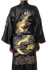 Silk Bath Robe Kimono Gown Dragon Embroidery Yukata Hakma Vintage