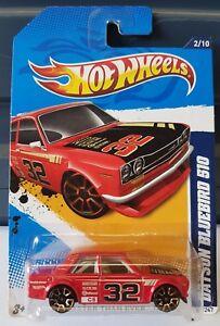 Hotwheels 2012  - Datsun Bluebird 510 / Datto 1600. [RED] VHTF CAR NEAR MINT