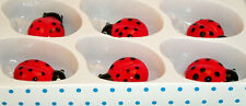 RED LADY BUG 0412-C MINI-size in a 1 BOX - 6 pcs.= 3 X 6 group at play setting