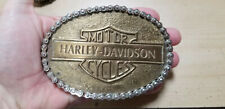 Vintage Harley Davidson Belt Buckle 1960's era righteous Motorcycle