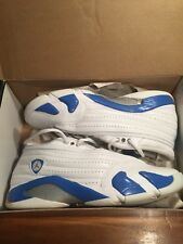 Nike Air Jordan XIV 14 Retro Size 10 White/Pacific Blue-Ceramic 312567-141 LS