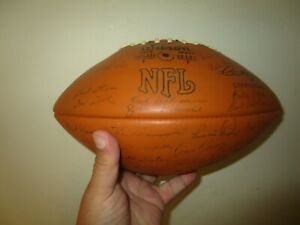 VINTAGE GREEN BAY PACKERS SIGNED FOOTBALL AUTOGRAPHS STAMPED ON BART STARR NITSC